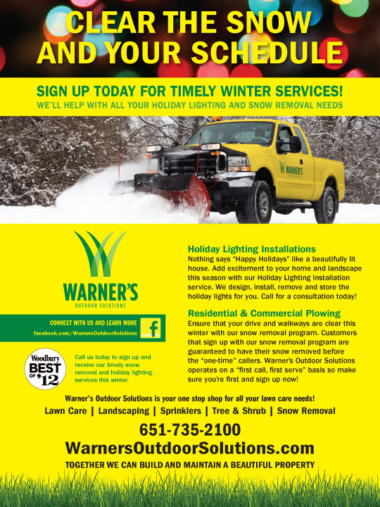 Warner's Outdoor Solutions Snow Ad